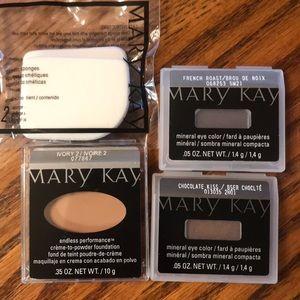 Mary Kay foundation and eyeshadow